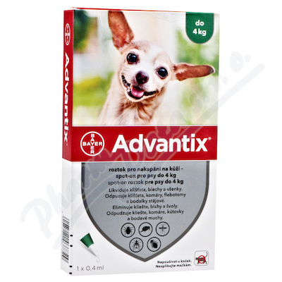 Advantix pro psy do 4kg spot-on 1x0.4ml