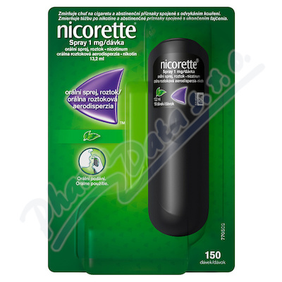 Nicorette spray 1mg/dávka orm.spr.1x13.2ml/150mg