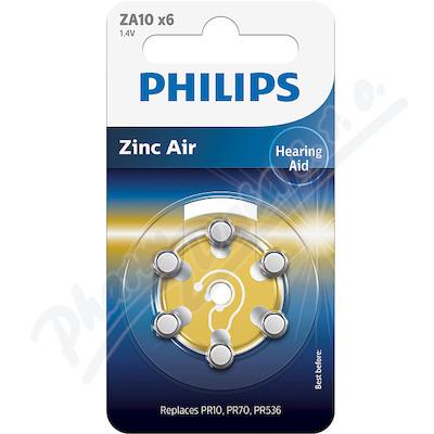 Baterie do naslouchadel PHILIPS ZA10B6A/00 6ks