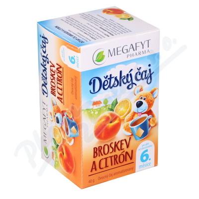 Megafyt Dětský čaj broskev a citrón 20x2g