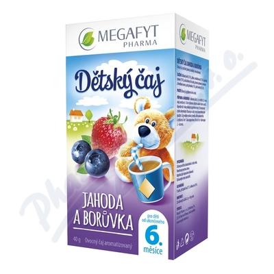 Megafyt Dětský čaj jahoda a borůvka 20x2g