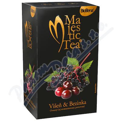 Čaj Majestic Tea Višeň & Bezinka 20 x 2.5g