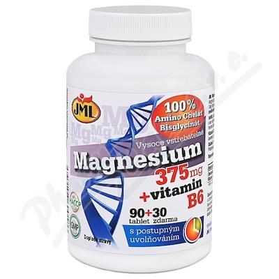 JML Magnesium 375mg + vitamin B6 tbl.90+30