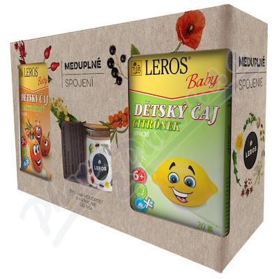 LEROS Meduplné spojení dětský čaj 2x20ks+med 200g