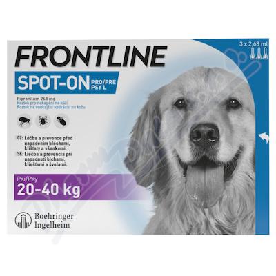 Frontline Spot On Dog 20-40kg pipeta 3x2.68ml