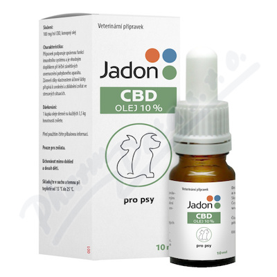 Jadon CBD olej 10% pro psy 10ml