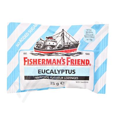 Fishermans Friend bonbóny dia eukalyptus/modré 25g