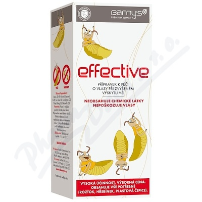 Barnys Effective při zvýšeném výskytu vší 60ml
