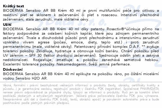 BIODERMA Sensibio AR BB Krém 40 ml