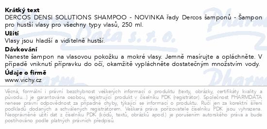 VICHY DERCOS Densi solutions shampoo 250 ml