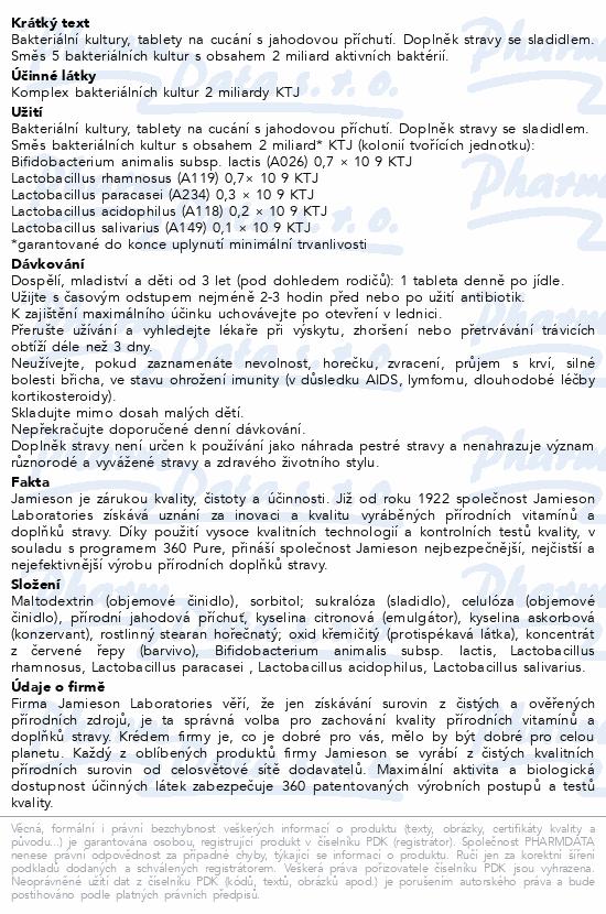 JAMIESON Probiotic jahoda tbl.60