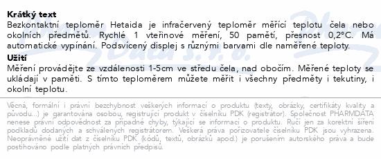 Hetaida Teploměr bezkontaktní infračervený