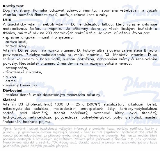 Abfarmis Vitamín D3 1000IU tbl.60