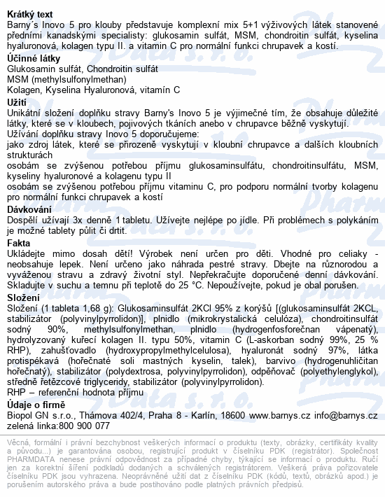 Barnys Inovo 5 tbl.90