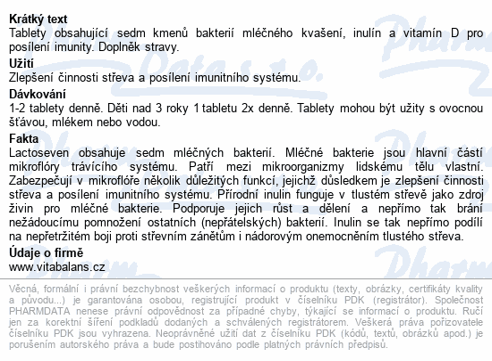 Lactoseven tbl. 20